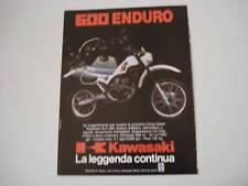 advertising Pubblicità 1984 KAWASAKI KLR 600  ENDURO