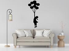 Banksy Girl Balloons Transfer Wall Art Decal O61