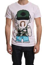 Humor jakato imprimé T-shirt en blanc brillant SOLDE