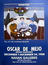 OSCAR De MEJO, Original Poster, Exhibition Recent Paintings New York 1988