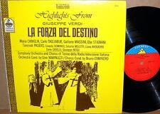 EVEREST/CETRA Verdi LA FORZA DEL DESTINO Caniglia Tagliabue Massini 7418