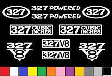 327 CI V8 POWERED 10 DECAL SET SBC ENGINE STICKER EMBLEM FENDER BADGE 5.3 DECALS