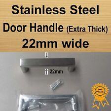 Cabinet Cupboard Door Drawer Handles -Stainless Steel 22mm Square / Half Round