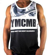 YMCMB TANK TOP MENS VEST, HIP HOP URBAN DESIGNER STREET WEAR TOP OFFICIAL DOLLAR