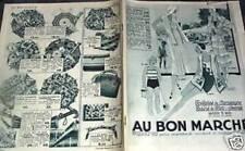 """CATALOGUE """"AU BON MARCHE"""" ETE 1931"""