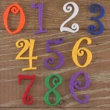 Numéro de police Curlz set 3mm feutre numéros 0-9 10 caractères tailles 5-12cm