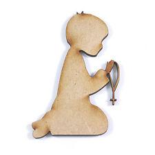 10x WOODEN COMMUNION BOY SHAPES gift tag craft card scrapbook embellishment art