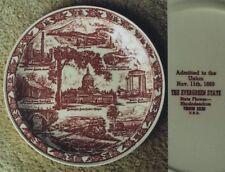 Vernon Kilns Washington state plate~Ultra maroon