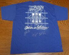Heath Bell & Mike Adams & Luke Gregerson Signed Padres Bullpen Shirt PSA/DNA COA