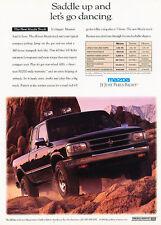 1993 Mazda B4000 Truck - saddle up - Vintage Advertisement Ad A27-B