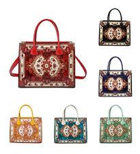 Women Large Artistic Pattern Faux Leather Handbag Tote Hobo Shopper Shoulder Bag