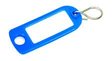 Schlüsselschilder zum Beschriften mit S-Haken, Farbe: dunkelblau 5-200 Stück