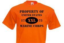 Property of United States Marine Corps T-shirt US ARMY MARINES USMC ALLENAMENTO-XX