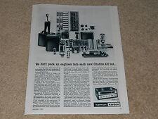 Harman Kardon Citation III Tube Tuner Ad, 1962, Article, Info, Frame it!