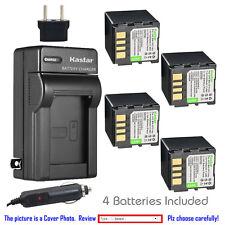 Kastar Battery AC Charger for JVC BN-VF714 & JVC GR-D395U GR-D395US GR-D396U