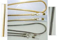Brillenkette Schlangenkette Metall nickelfrei gold oder silber 3 Varianten