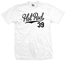 Hot Rod 39 Script T-Shirt - 1939 Custom Pickup Coupe Rat Race Car - All Colors