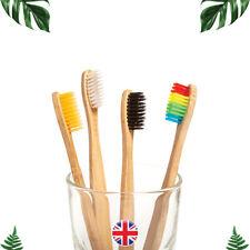 Bamboo Toothbrush 🌿 Rainbow Dental Care Teeth Whitening Oral Brush Adult Soft