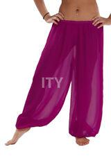 Violet Red Chiffon Harem Yoga Pant BellyDance Costume Tribal Halloween Pantaloon