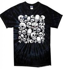SKULL Giardino Tie Dye T-Shirt-Gotico Emo Halloween Scheletro