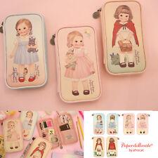 Afrocat Paper Doll Mate Multi Pen Pouch Ver 4 Cosmetic Organizer Bag Pencil Case