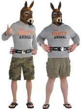 Ass Head Stag Do Mens Party Animal Jackass Fancy Dress Donkey Kit Groom Joke New