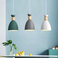 Modern Pendant Light Kitchen Lamp Bar LED Ceiling Light Wood Chandelier Lighting