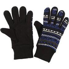 Puma Black Wrist Womens Akutan Gloves Knitted Graphic Warm Patterned S M L XL