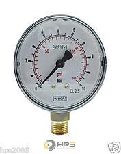 WIKA Vakuum- und Druckmanometer Senkrecht  Ø50mm Manometer Luft Druckluft