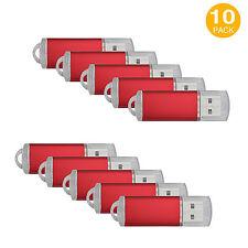 10X Rot 1GB/2GB/4GB/8GB/16GB USB Sticks Speicher Stick Flash Memory Drives