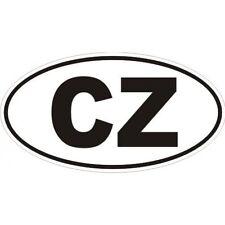 3 D CZ - CZECH STICKER OVAL COUNTRY CODE LOGO BADGE MOTORCYCLE CAR VAN LAPTOP