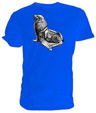 Sello T Shirt, Selección de tamaño y colores, negro y blanco dibujo de línea
