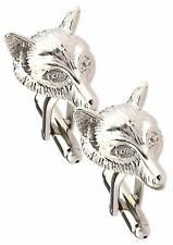 La testa di volpe argento Gemelli da uomo Hunt regalo doppio gemelli da Gemelli diretta