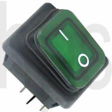 1-10 St. Wippschalter 2x Ein grün bel Spritzschutz nach IP65 max. 250V AC 16/8A