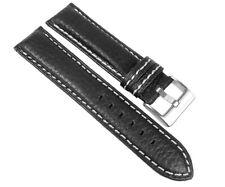 Relojes pulsera brazalete imola cuero de vaca cinta negra con costura contraste 24386s