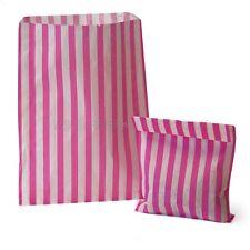 Pink Candy Stripe-Sweet favor buffet Bolsas De Papel - 7x9 Pulgadas-seleccione cantidad