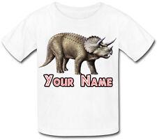 Dinosauro Triceratopo personalizzata KIDS T-SHIRT - grande regalo per qualsiasi bambino & denominato