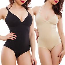Body donna intimo contenitivo aderente elasticizzato lingerie basic W8078