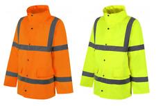 Traega TJK01 Hi Vis Safety Parka Style Waterproof Jacket Concealed Hood Class 3