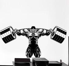 Sticker Sport Bodybuilder Bodybuilding Weight Power Barbell Vinyl Decal (z2964)