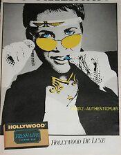 PUBLICITE ORIGINALE de 1983 HOLLYWOOD DE LUXE FRESH LIFE CHEWING GUM FRENCH AD