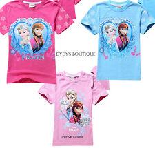 Frozen Anna Elsa girls children T- shirt Shirt Top summer
