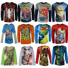 Niños Spiderman Avengers Ninja Turtles Gormiti Minions Camiseta de manga larga