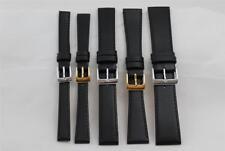 Calidad, De 11 Mm A 22 mm Negro reloj correa de cuero, becerro real, muy popular. L2
