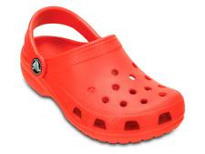 Sandali Crocs Kids' classic flame bambino rosso in gomma estate mare slip on