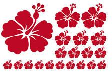 20 Hibiskus Blüten - Wandtattoo Aufkleber vers.Farben