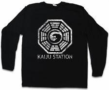 Vintage Kaiju estación manga larga T-Shirt Pacific Mech monstruo rim Godzilla