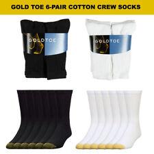 Gold Toe Men's 6 Pack Cotton Athletic Crew Socks