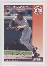 1992 Score Rookie & Traded #43T Herm Winningham Boston Red Sox Baseball Card