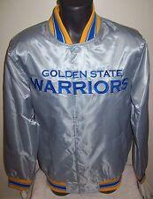 GOLDEN STATE WARRIORS NBA STARTER Snap Down Jacket SpingSummer Ed SILVER SERIES